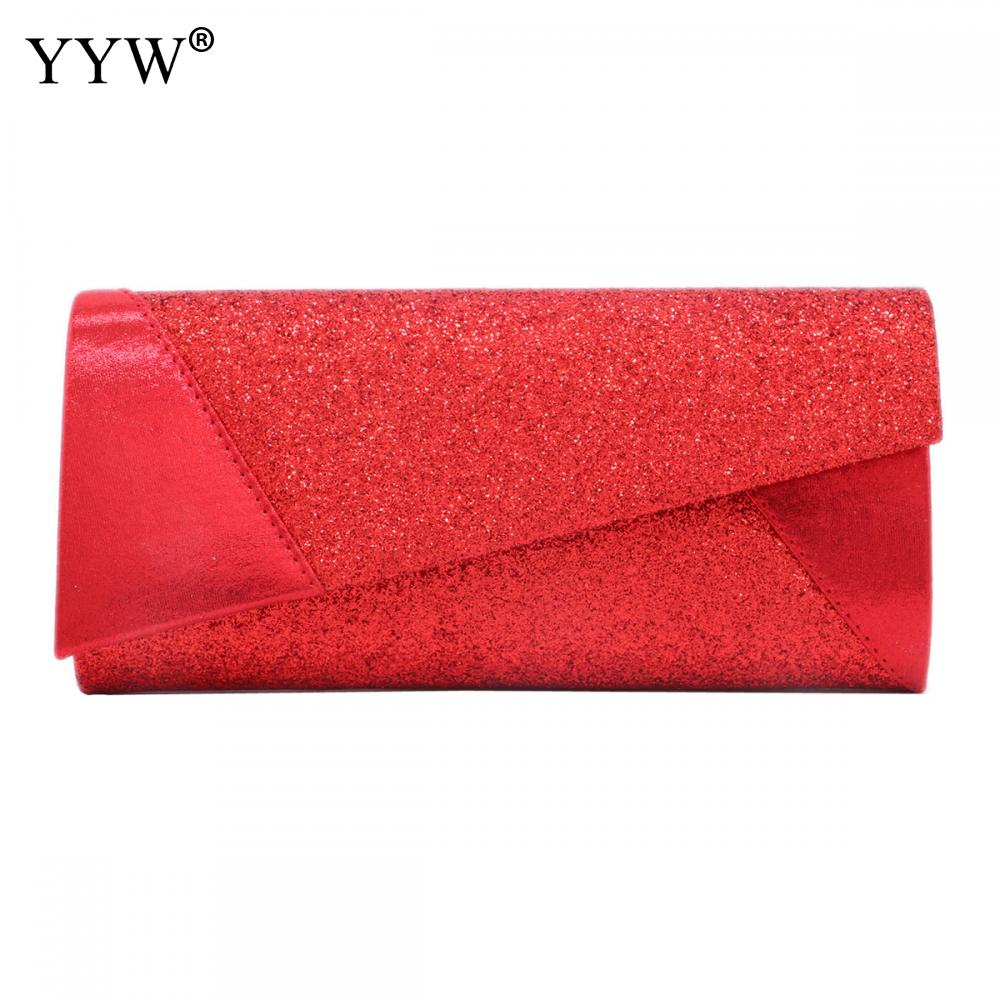 2019 Bolsas Mujer Women Evening Bag Party Banquet Glitter Bag For Women Red Silver Wedding Clutches Purse Sequin Shoulder Bag