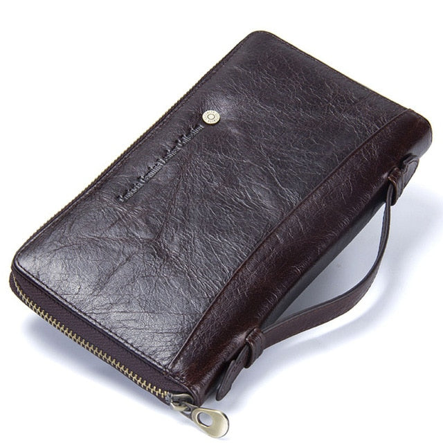 Genuine Leather Men Clutch Wallet