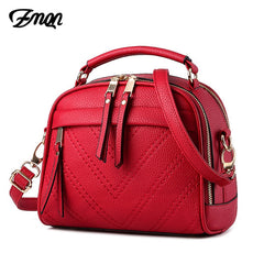 ZMQN Women Shoulder Bag 2019 Candy Colors Fashion Handbags Brand Small Leather Crossbody Bags For Women Bag Girl Zipper Red A507