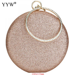 Clutch Rose Gold Gillter Handbag