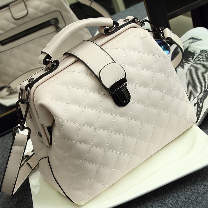 Luxury Diamond Lattice Women bag handbag White Burgundy Classic Soft Leather Women's Messenger bags Female Crossbody bag Tote