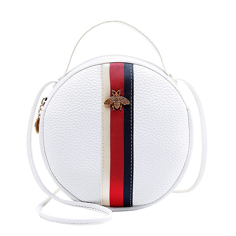 Handbags Shoulder Bag Crossbody Bags For Women Mini Purses White Striped For Bee Metal Cute Small Purse Handbag