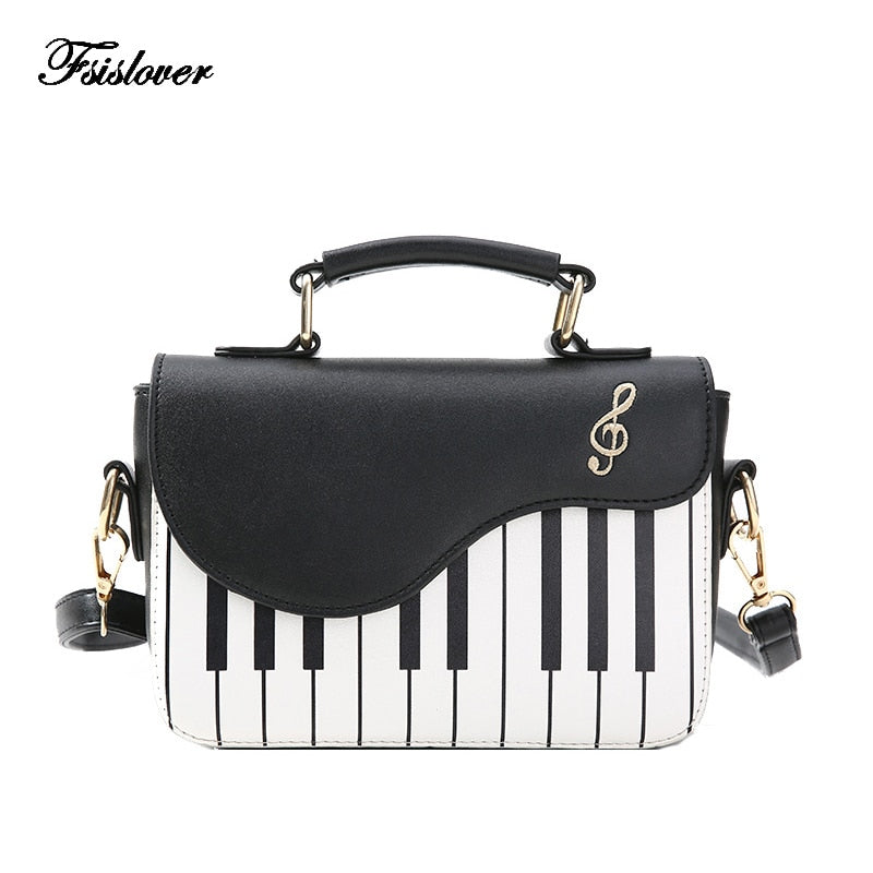 2019 New Fashion Women Shoulder Bag  Ladies Piano keys Designer Handbags Clutch Bag Female Embroidery Crossbody Messenger Bag