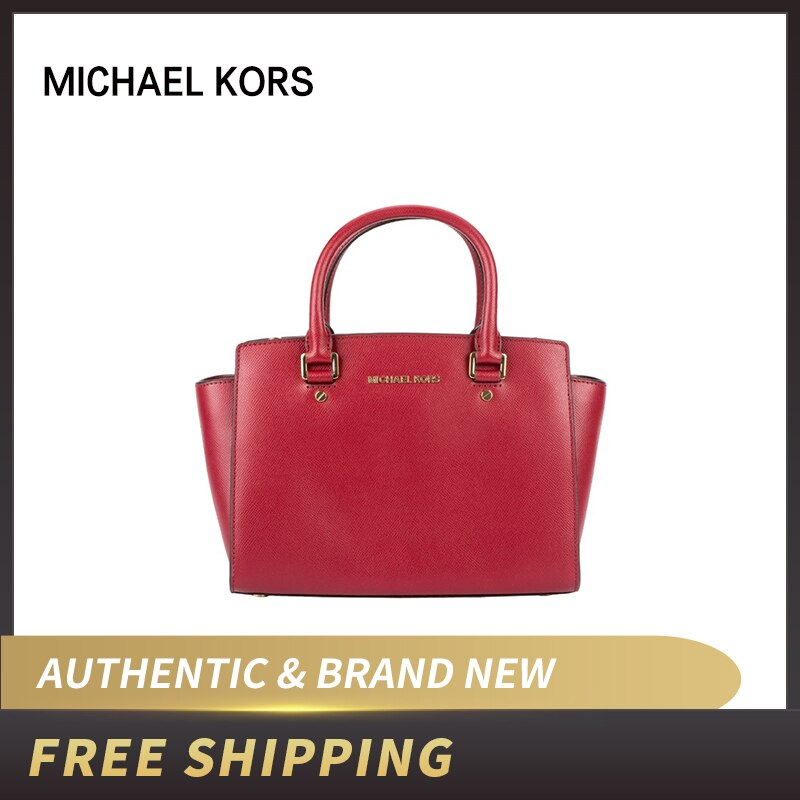 Michael Kors MK Selma Saffiano Leather Medium Satchel 30S3GLMS2L