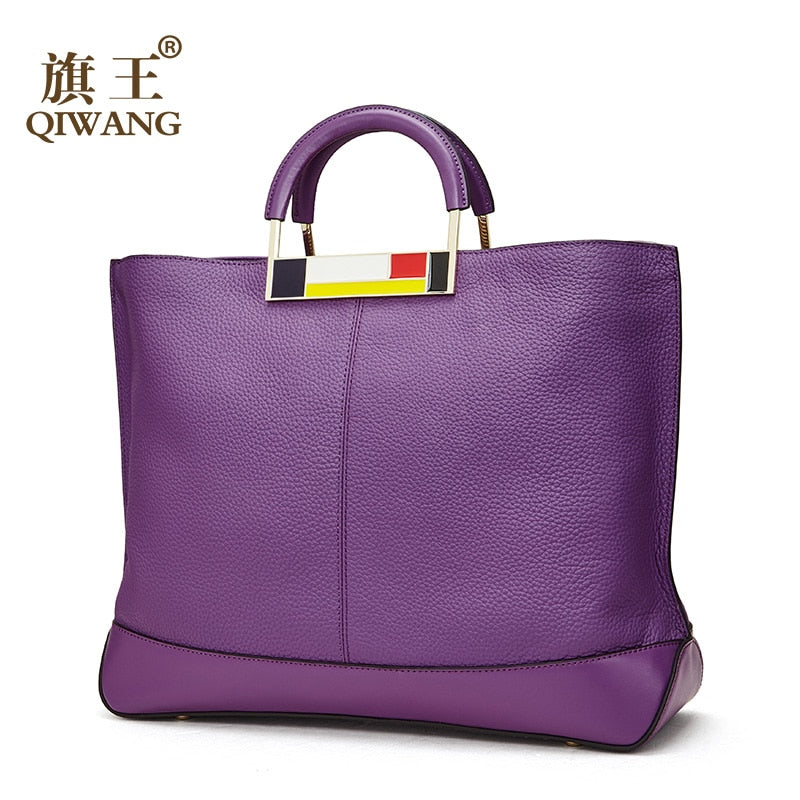 Original Purple Handbag for Women Bags Genuine Leather Female Designer Handbags Famous Brand Women Bags High Quality bolsa