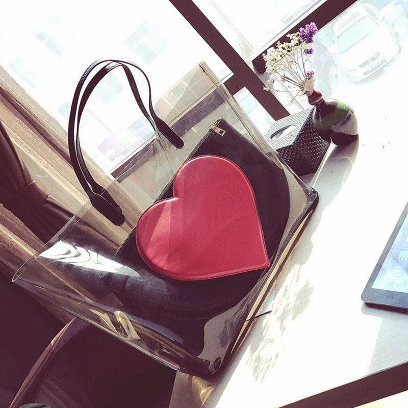 2019 women's bag jelly handbag Shoulder bag transparent Beach bag luxury handbags women bags designer bolsa feminina sac a main