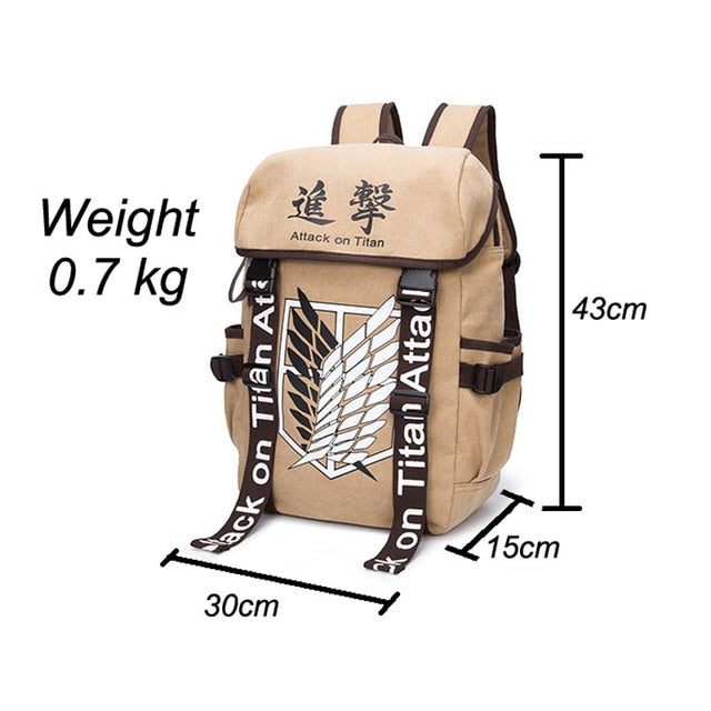 Bag Cartoon Canvas Backpack