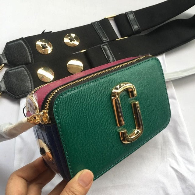 2019Rushed Sale Polyester The New Spring And Summer Cow Leather Handbag Shoulder Wide Straps Folder Stripe Satchel Bag Small