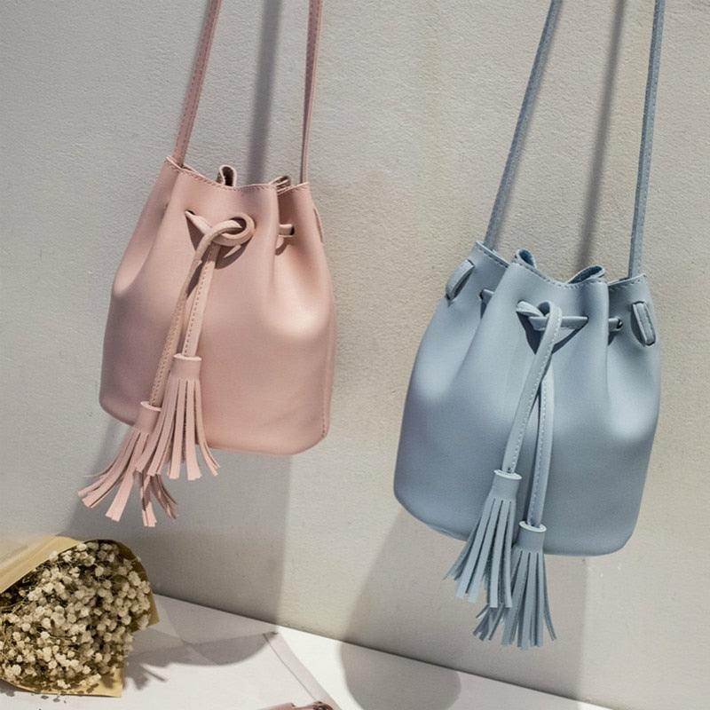 Messenger Bag Women's Hot Sale Feminina Sling Bucket Bags Fashionable Leather Ladies Handbag Small Women Handbags New