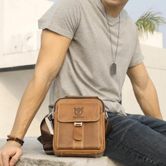 Men Satchel Shoulder Bag Leather Handbag