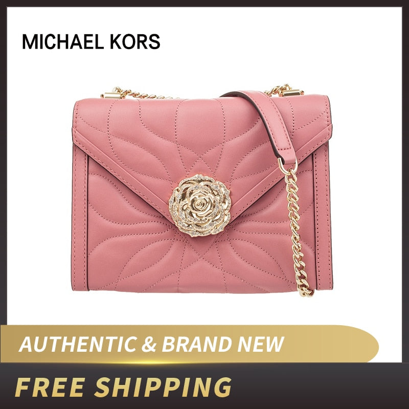 Michael Kors MK Whitney Large Petal Quilted Leather Convertible Shoulder Bag 30H8TWHL3Y/30H8GWHL7Y