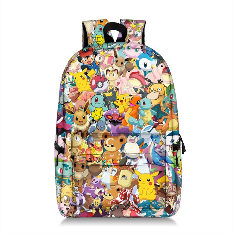 cartoon pokemon / dragon ball backpack for ttenger boys girls children school bags student bookbag kids school backpacks gift