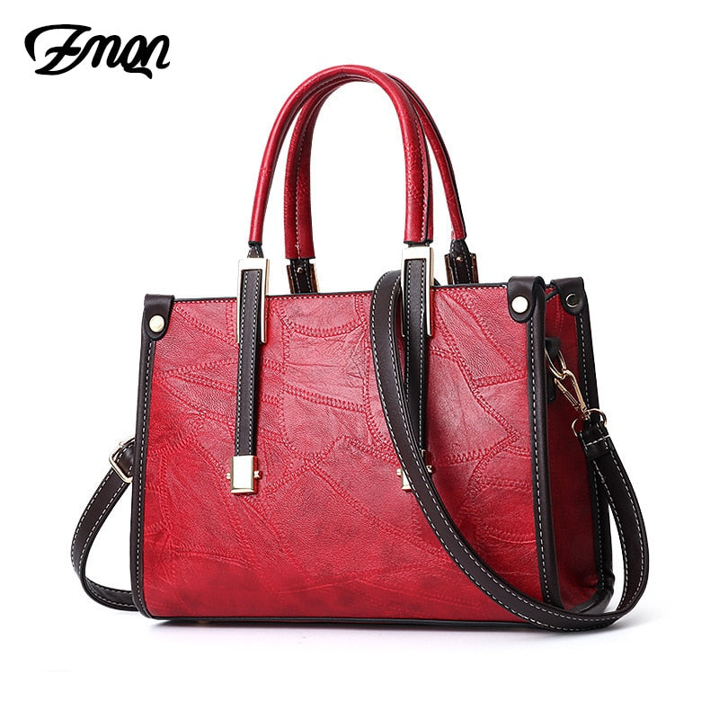 ZMQN Women's Tote Hand Bags 2019 Female Crossbody Bags Luxury Handbags For Women PU Leather Red Flap Bolsa Famous Brand Sac A831