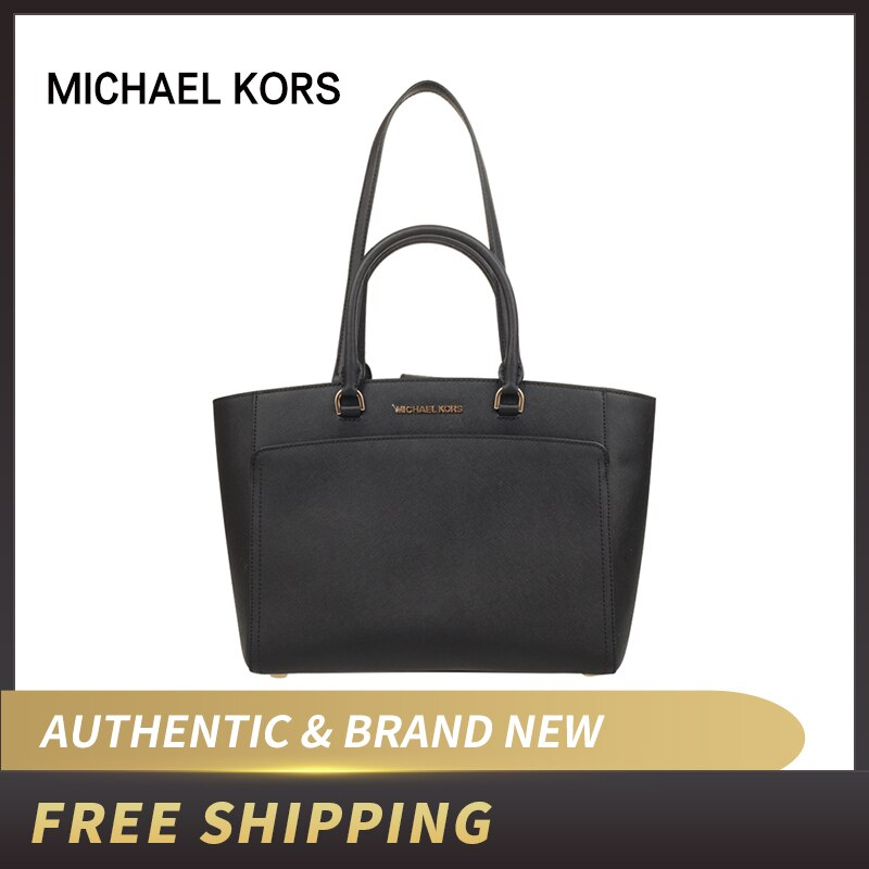 Michael Kors Emmy Large Tote Leather Handbag 35S8GY3T7L