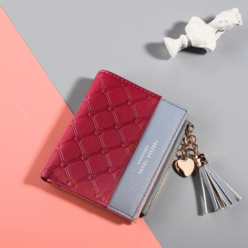 Leather Wallet Women Small Luxury Brand