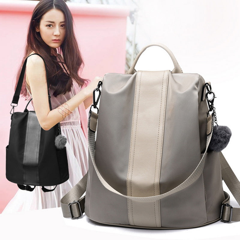 Adisputent Solid Women Backpack Anti Theft School Bags For Teenage Girls Teen Backpack Book Backbag Travel Daypacks High Quality