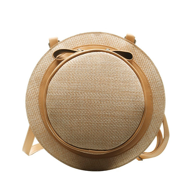 Round Straw Bags Holiday backpack