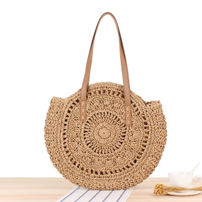 Casual Rattan Women Shoulder Bags