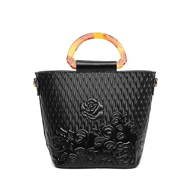 Genuine Leather women bags for women 2019 new luxury retro embossed handbag brand bag female bag female designer bag