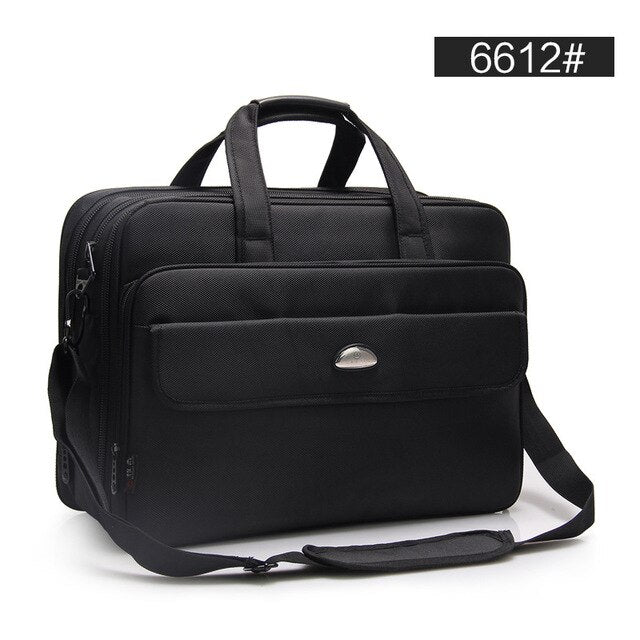 17 Inches Men's Briefcase Business Large Briefcases Waterproof Extensible Business Computer Bag Men Laptop handbags