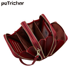 Leather Messenger Bags Women Clutch