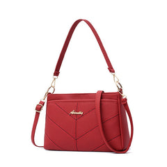 purses and handbags shoulder bag for women fashion small crossbody bags red pu leather womens messenger bag ladies sling bag