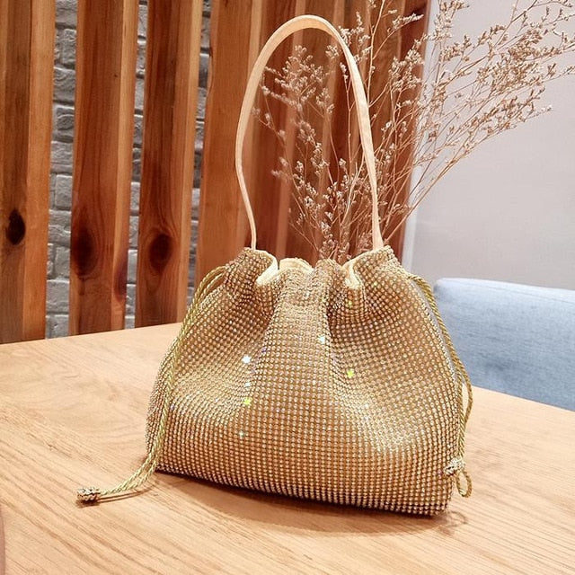 2019 new Female Diamond Handbag Vintage Crystal Design Evening Bag Wedding Party Bride Clutch Bag Purse rhinestone shoulder bags