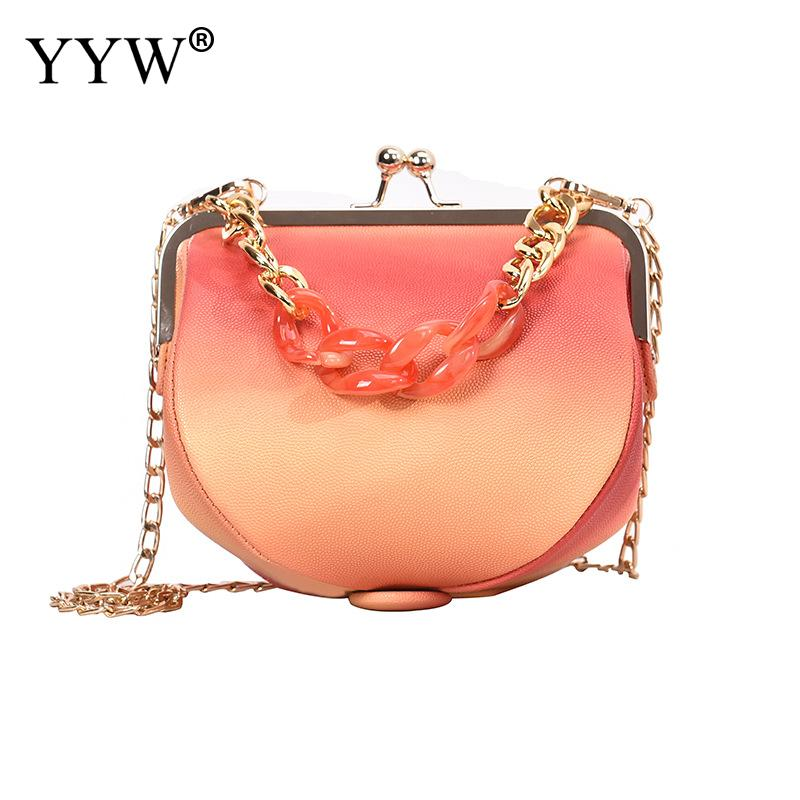 Deep Orange Mini Women Pu Leather Crossbody Bag Unique Women Shoulder Handbag Leather Female Black Blue Bolsa Feminina 2019