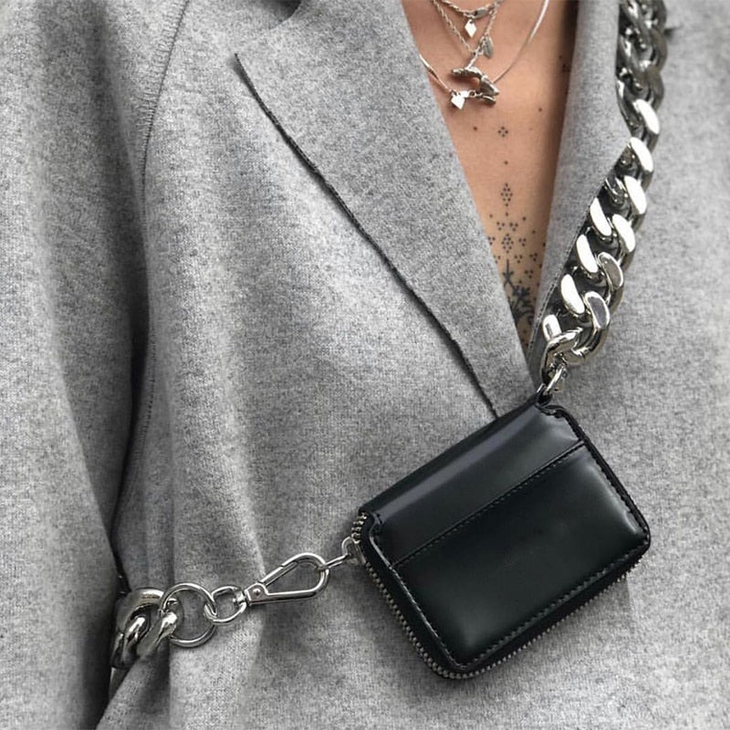 Brand Design Shoulder Bags Chain Luxury Mini Messenger Bag Girl Fashion Purses Clutch Korean Coin Money Bag 2019 Black Crossbody