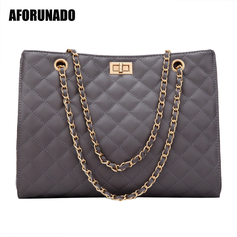 Luxury Handbags Women Bags Designer Leather Chain Large Shoulder Bags Tote Hand Bag Fashion Crossbody Bags For Women 2019 White