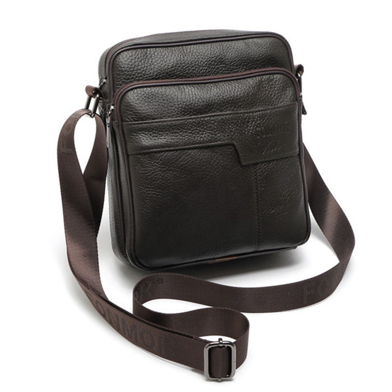 Natural Cow Leather Messenger bag Men Briefcase Casual Black Coffee Small Male Crossbody Shoulder bags Genuine Leather bag 450g