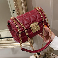 Ladies Hand Sling Crossbody Bags Women Leather Luxury Handbag Famous Brand Designer Female Messenger Shoulder Bag Sac Red Clutch