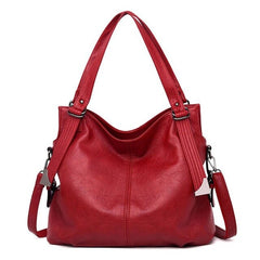 ladies large bucket tote bag Black/red new fashion women leather handbags female genuine leather shoulder crossbody bag M245