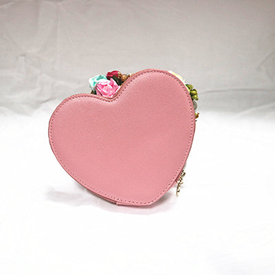 Red Heart Wrist Strap Women Small Handbag Purse For Girls Mini Party Bag Fashion Female Day Clutch Cute Coin Purse