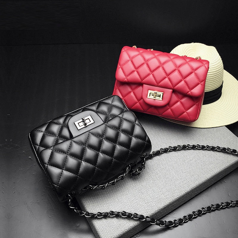 Small Crossbody Bags For Women Bag Messenger Bolsas Black Gold Red White Luxury Handbags Women Bags Designer Chain Bag Female