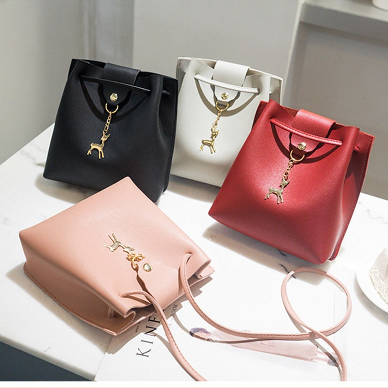 Simple Women Bag Red Messenger Fashion Deer Ornaments Crossbody Mini Bag Women Shoulder Bags Gift KA-BEST