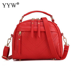Red Fashion Designer Pu Leather Handbag For Women 2018 New Top Handle Hand Bags Bolsa Feminina Balck Large Capacity Shoulder Bag