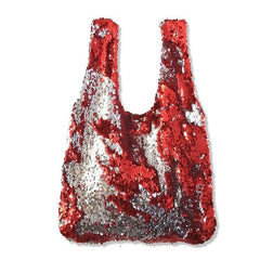Original Unique Handmade Sequins Small Bags Red Silver Girl's Glitter Beaded Vest Bag Female Wedding Party Hands Bags Luxe Bolso