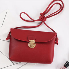 Women's Crossbody Bags Shoulder Bags Female Small Coin Phone Purses Mini Casual Messenger Bags for Ladies Elegant Red Black #