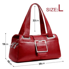 Oloey Women Genuine Leather Handbag Female Messenger Bag Women Shoulder Bag  For Women Lady Red Black Blue