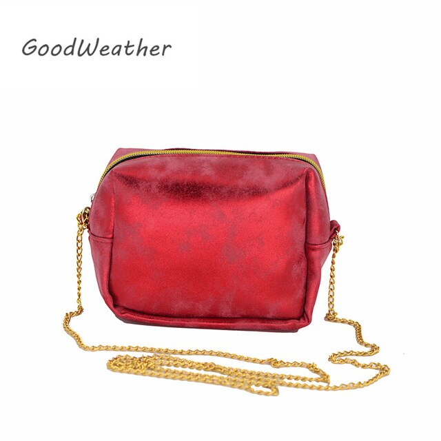 Designer small handbags women shoulder bag for party fashion red clutches purse with metal chain messenger bags female handbag