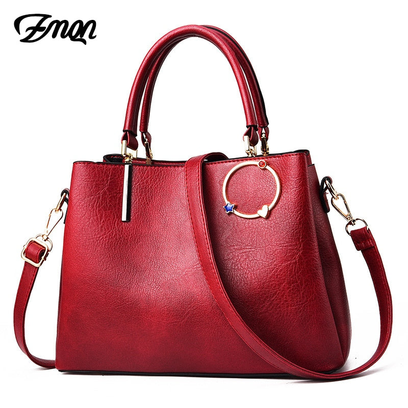 ZMQN Bags Women's Leather Handbags 3 Layers Crossbody Bags For Women Red Vintage Designer Handbag Famous Brand Solid Bolsas C680