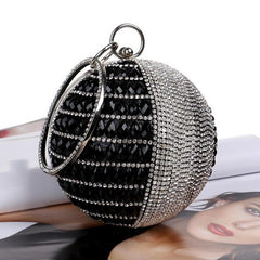 New Round Pearl Beaded Evening Bags Women's Pearl Beads Clutch Bags Handmade Wedding Bags red Gold Diamonds purse Party bags