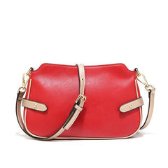 Burminsa 100% Genuine Leather Bags Women Messenger Bags Small Shoulder Crossbody Bags Summer Fashion Female Purse 2019 Red Black
