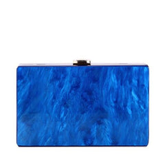 Four Color Solid Pearl Blue Red White Beige Acrylic Clutch Box Bag Flap Mini Beach Women Shoulder Messenger Clasp Acrylic Clutch
