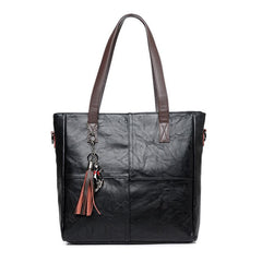 YILIAN Cute Cat Women Handbag Multifunctional Tassel Leather Bag with Big Capacity Classic Black Red PU Handbag Fashion Bags 706