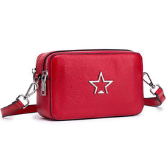 Original Famous Brand Genuine Leather Small Women Messenger Bag Luxury Handbag Fashion Designer Female Big Capacity Tote Red