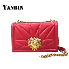 YANBIN 2018 Fashion Brand Women's Shoulder Bag Chain Strap Designer Red Handbags Ladies Messenger Leather Bags With Metal Buckle