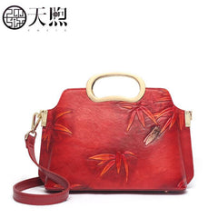 PMSIX high quality fashion luxury brand 2019 new wild red portable Messenger bag China style one shoulder bag cheongsam bag
