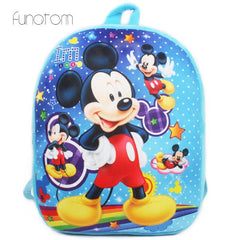 2019 New Cartoon Baby Mickey School Bag for Children Kids Cute Plush School Backpack Boys Schoolbag